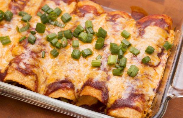 red chile enchiladas